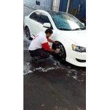 Higienização de automóveis no Jardim do Colégio