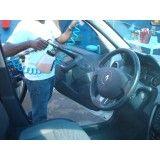 Lavagem no interior do carro na Chácara Nani